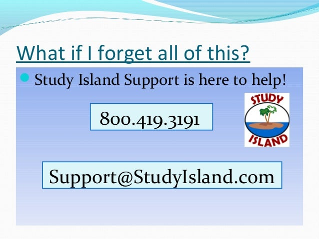 Study Island Help