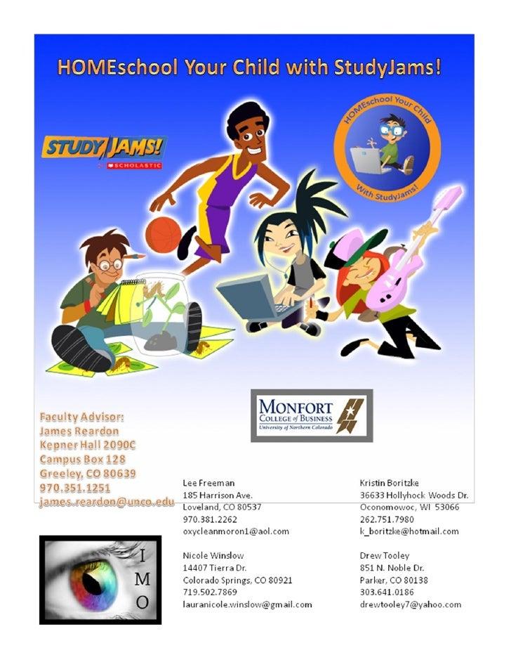 Executive Summary          IMO has created an innovative and original direct marketing campaign for Scholastic StudyJams! ...