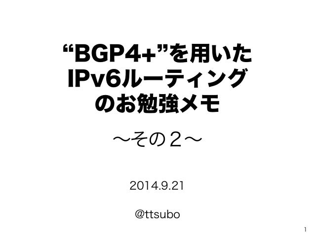 Technical report for IPv6 Routing w/ bgp4+ (part2)