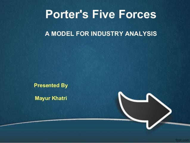 Porter's Five Forces A MODEL FOR INDUSTRY ANALYSIS Presented By Mayur Khatri