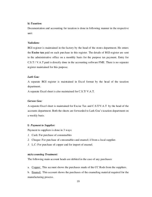 Study of accounting procedures with an object to prepare accounting m…
