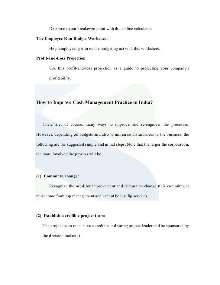 Study of cash management at standard chartered bank – Promotion Point Worksheet Calculator