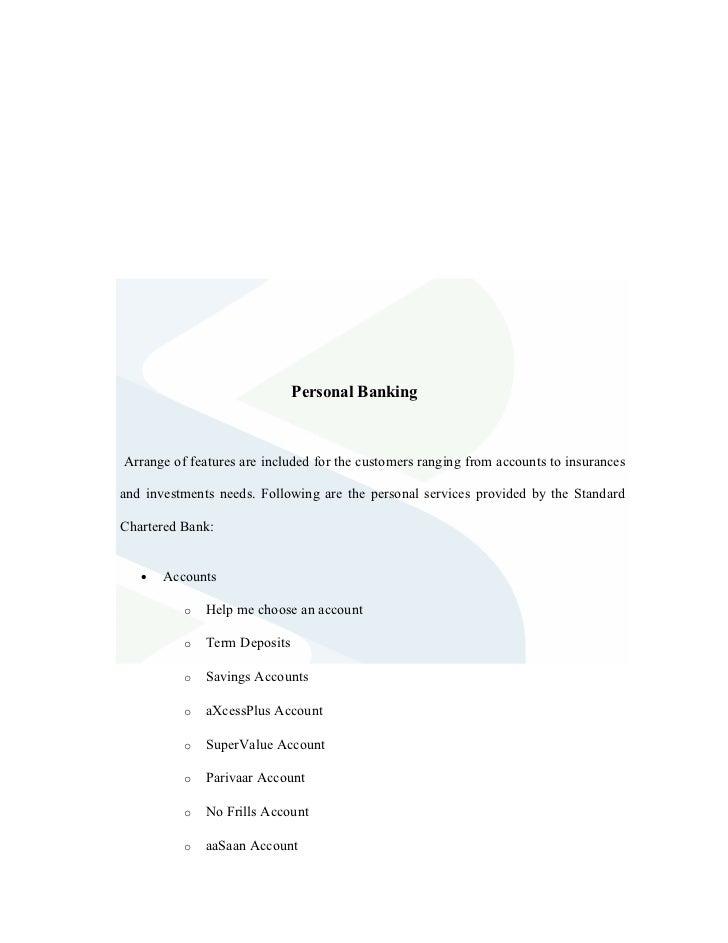 Study of cash management at standard chartered bank