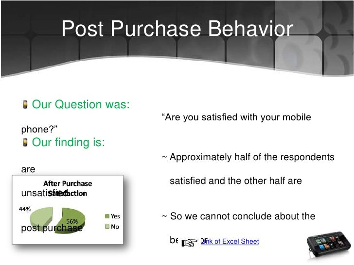 Proposal for consumer behaviour in mobile phones