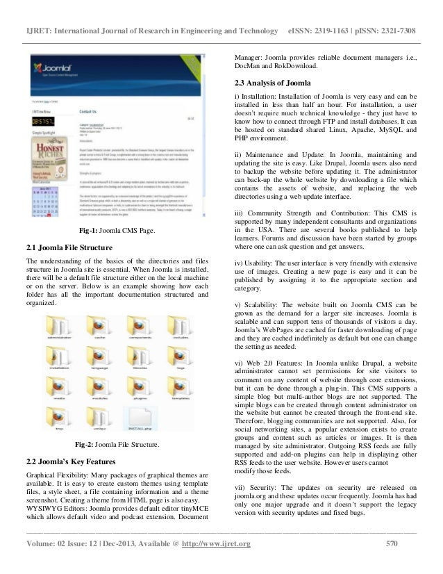 Study of content management systems joomla and drupal Slide 2
