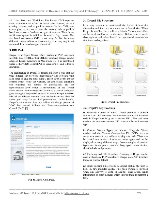 Study of content management systems joomla and drupal Slide 3