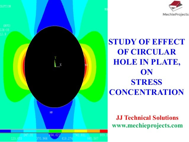 STUDY OF EFFECT OF CIRCULAR HOLE IN PLATE, ON STRESS CONCENTRATION JJ Technical Solutions www.mechieprojects.com