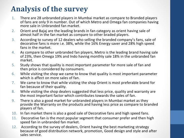 marketng analysis of bajaj fans Description: bajaj fans industry analysis  bhalender singh nayyar department  of marketing fore school of management, new delhi submitted by – aayushi.
