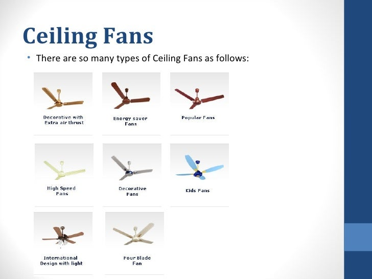 Study Of Fans