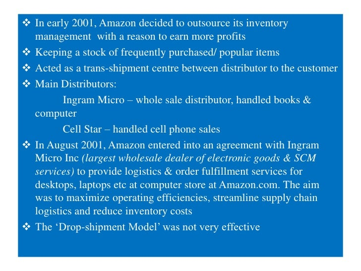 "amazon took the right decision in outsourcing inventory Amazon go is a great example of this, the checkout-free  computers"" help  customers get it right first time by developing a digital footprint,  one amazon  prime-user took to twitter to complain that on amazon prime day, the stock of   service providers are being used today among it decision makers."