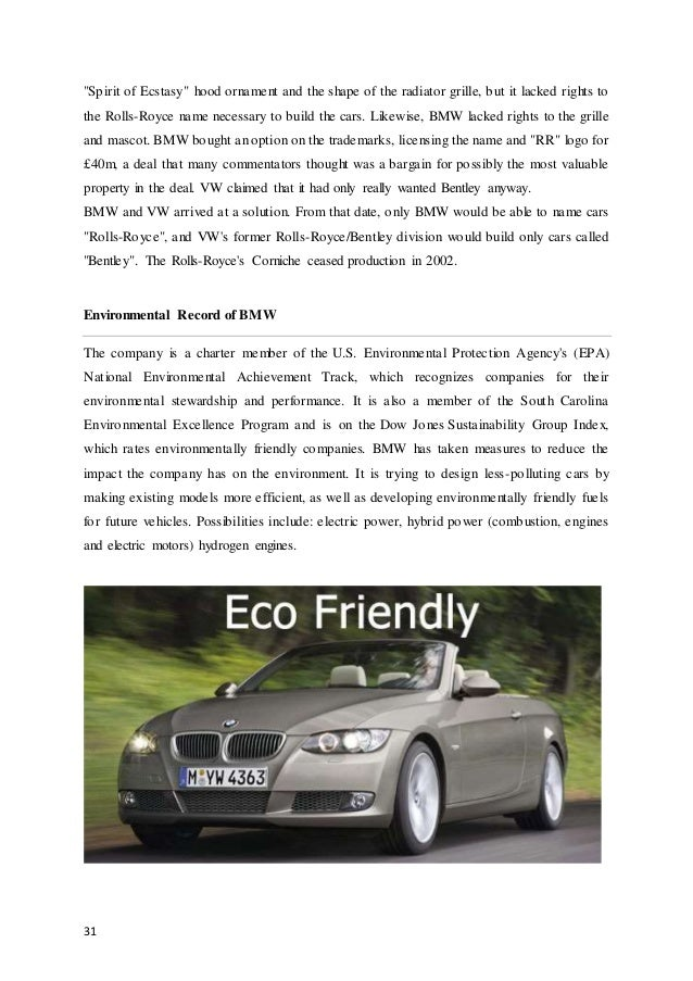 an analysis of the marketing strategies and innovations of bmw Bmw has maintained its brand image over the years through its intensive marketing strategies also its marketing executives have been consistently successful in creating a positive perception in the minds of a particular market segment.