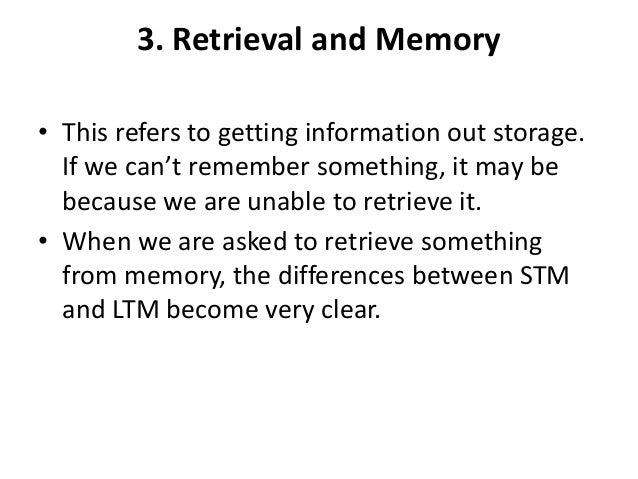 the difference between stm and ltm Describe two differences between short term memory (stm) and long term memory (ltm) in term of duration and capacity (3 marks) stm has duration of 3-18 seconds whereas the duration of ltm memory can last anything from a few minutes to a lifetime.