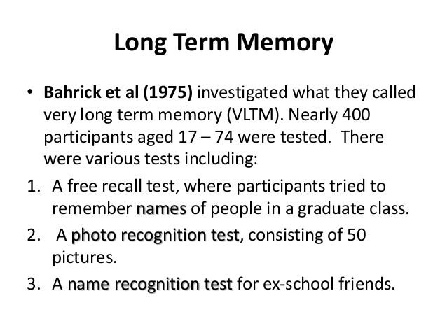 free recall from short term memory