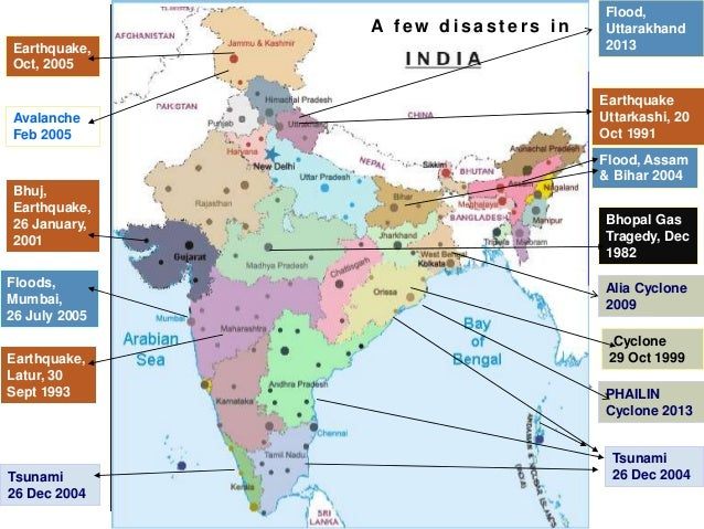 Recent Natural Disasters  In India
