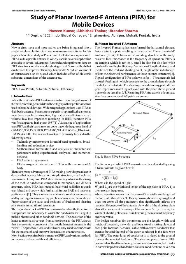 IJECT Vol. 4, Issue Spl - 3, April - June 2013 w w w.ijec t.org International Journal of Electronics & Communication Techn...