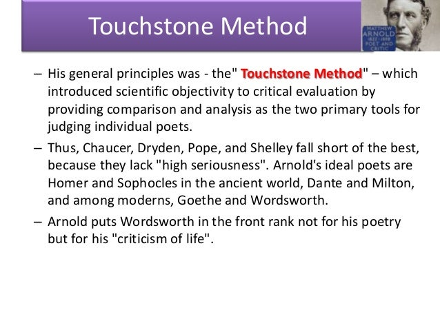 comparison and evaluation in matthew arnolds the study of poetry Start studying english lit learn vocabulary,  is the study, evaluation, and interpretation of literature  the tone in matthew arnolds poem dover beach.