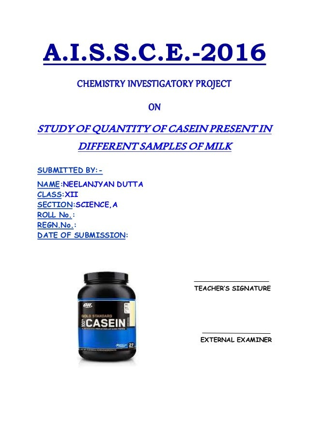 project milk and casein present essay Experiment to determine the amount of casein the quantity and composition of milk also to determine the amount of casein present in milk project.