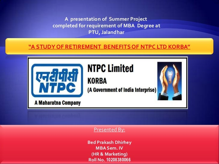 ntpc mba summer training project Power management institute– it is the apex training institute of ntpc located in noida, close to the company headquarters.