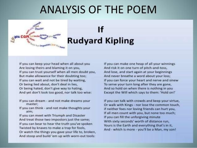 Study Of The Poem If By Rudyard Kipling