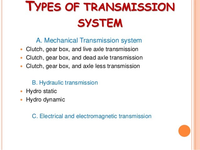 Study Of Transmission System Of Automobile