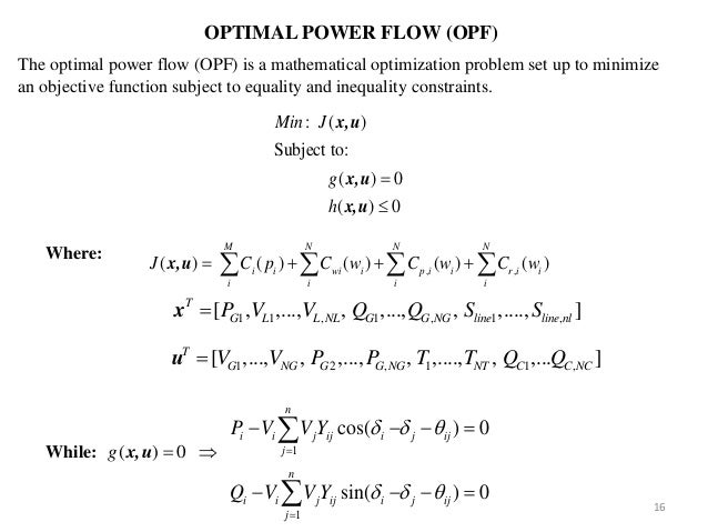 optimal power flow thesis Optimal power flow (opf) is a fundamental tool in power system planning and operation prior to the restructuring of the industry, opf was used in transmission.