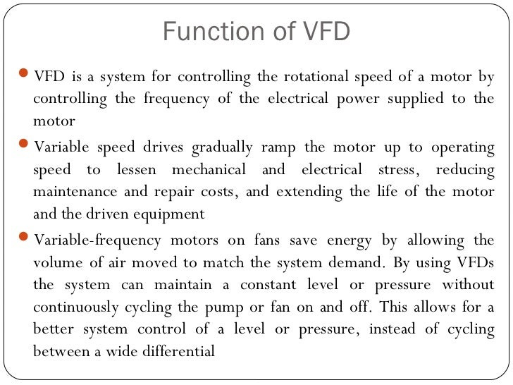 variable frequency drive (vfd) installation Variable Frequency Drive Wiring Diagram 4 function of vfdvfd variable frequency drive wiring diagram