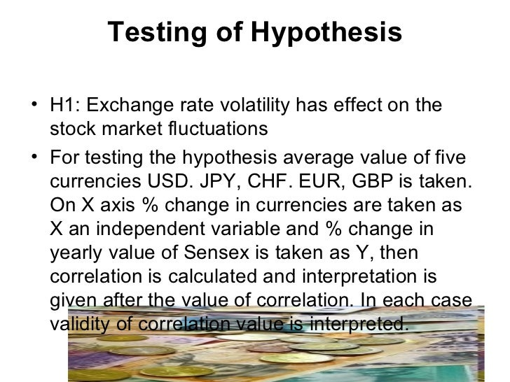Analysis of the foreign exchange market