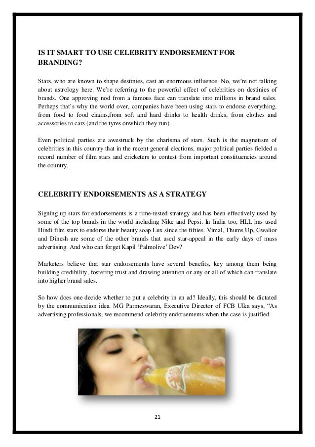 IMPACT OF CELEBRITY ENDORSED ADVERTISEMENTS ON …