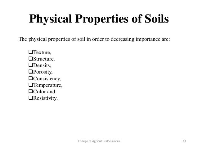 Study on conversion of sand to soil organically for Physical and chemical properties of soil wikipedia