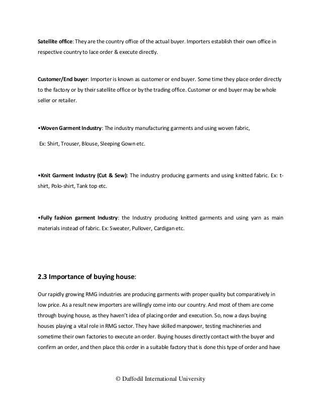Study on garments buying house merchandising