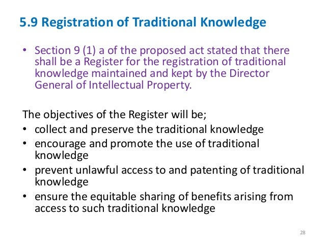 intellectual traditional rights This report prepared by the law library of congress for the human rights day 2010 event, discusses the protection and recognition of māori culture in new zealand's intellectual property laws, with specific mention of the treaty of waitangi.