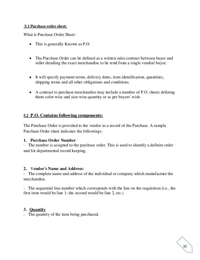 garment purchase order format