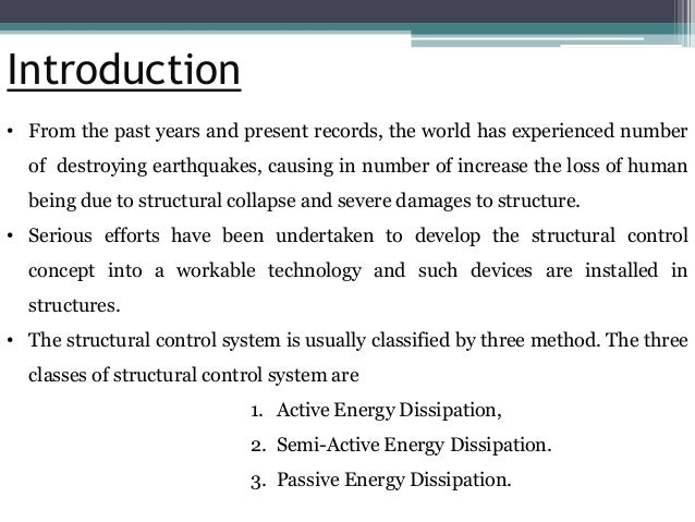 passive energy dissipation systems in structural engineering pdf