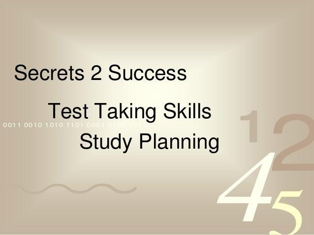 Secrets 2 Success             Test Taking Skills                                             1                            ...