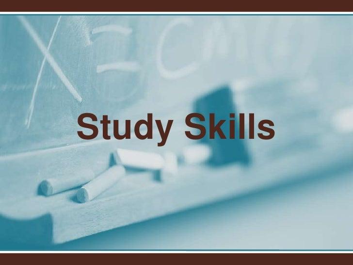 Study Skills<br />