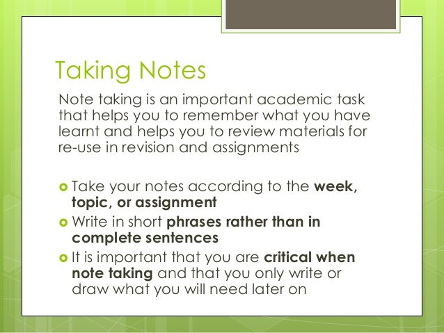 importance of study skills essays