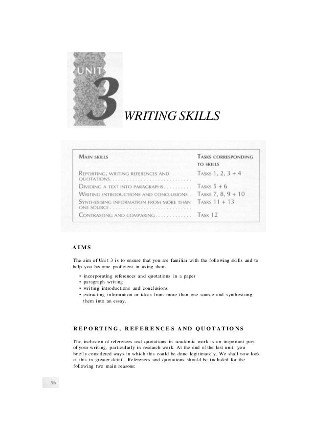 65 writing skills - Special Skills For Housekeeping