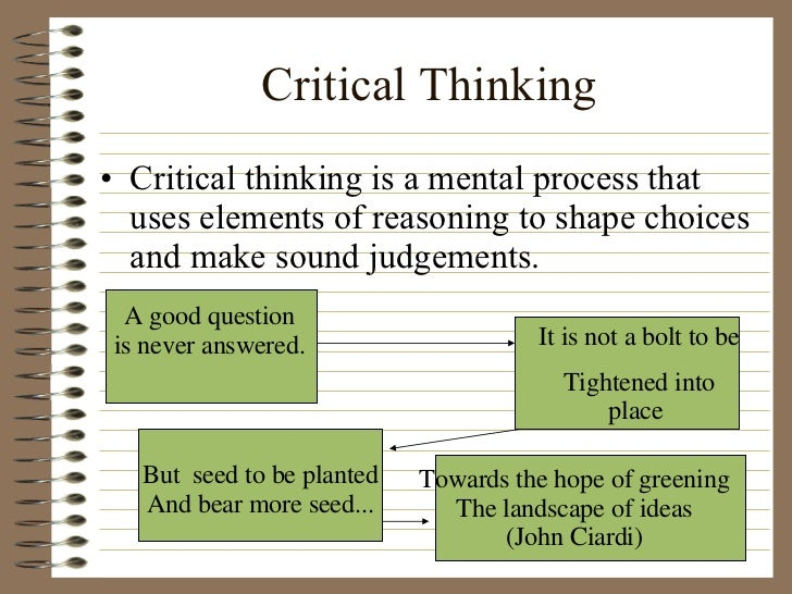 Critical thinking exercises for high school students