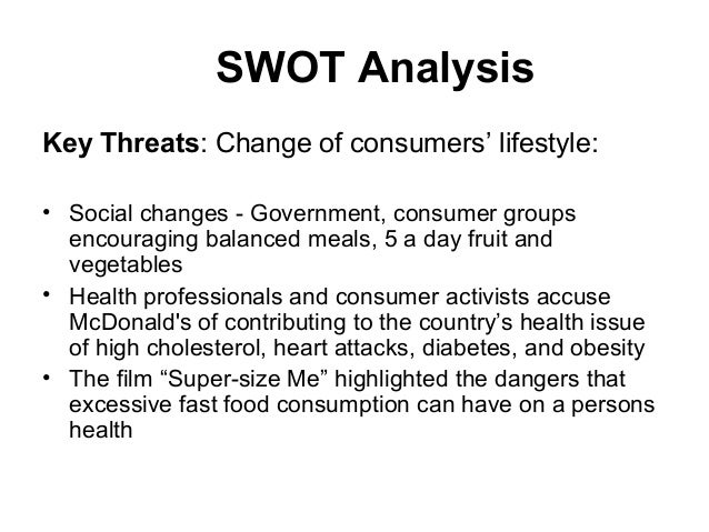 swot analysis of mcdonalds vs burger A swot comparison of mcdonald's and burger king company organization pages 3 words 2,907 view full essay more essays like this: mcdonald, burger king company.