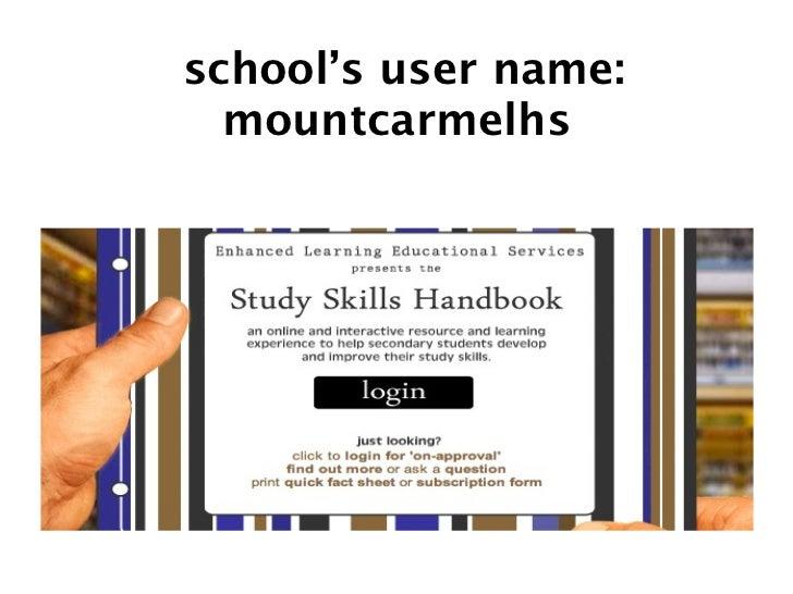 school's user name:   mountcarmelhs