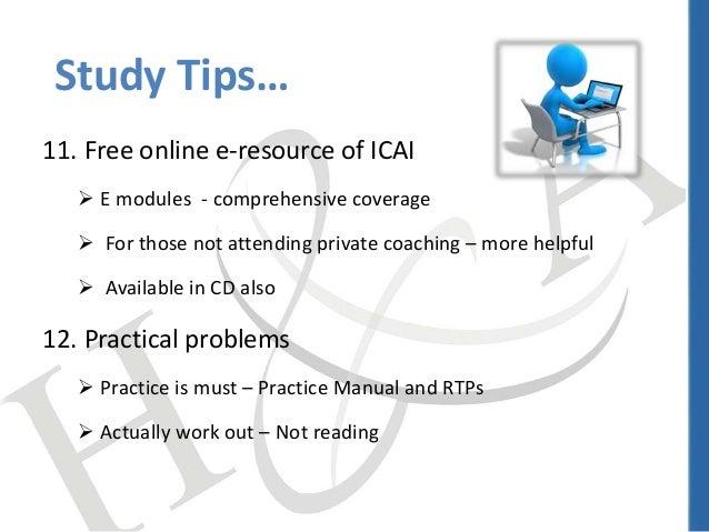 Study tips & exam techniques - CA - India