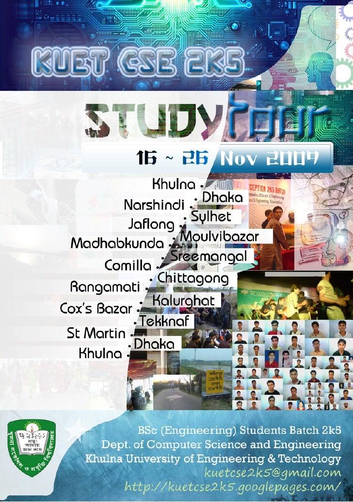 Study Tour (KUET CSE 2k5) Poster