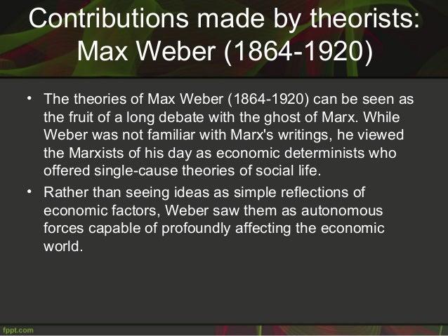 Debate between marx and weber
