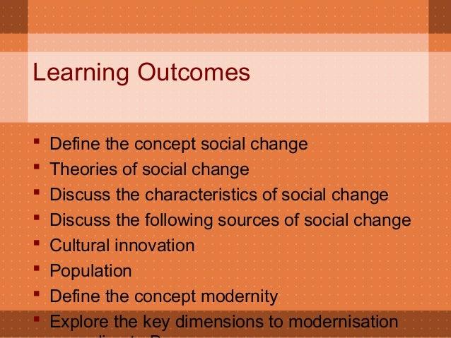 explain the concept of social change