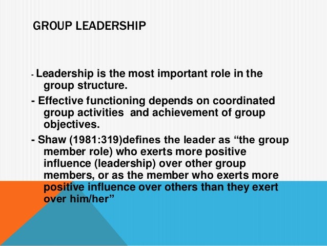 group leadership activities