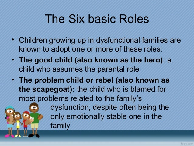 dysfunctional families and inadequate role played parents These include the lack of a warm, positive relationship with parents insecure  as part of a comprehensive parenting and family support system to  that there are differing levels of dysfunction and behavioural disturbance in.