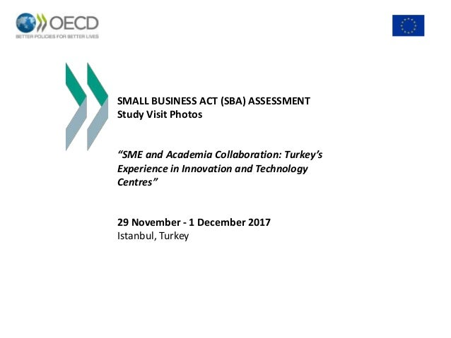 "SMALL BUSINESS ACT (SBA) ASSESSMENT Study Visit Photos ""SME and Academia Collaboration: Turkey's Experience in Innovation ..."