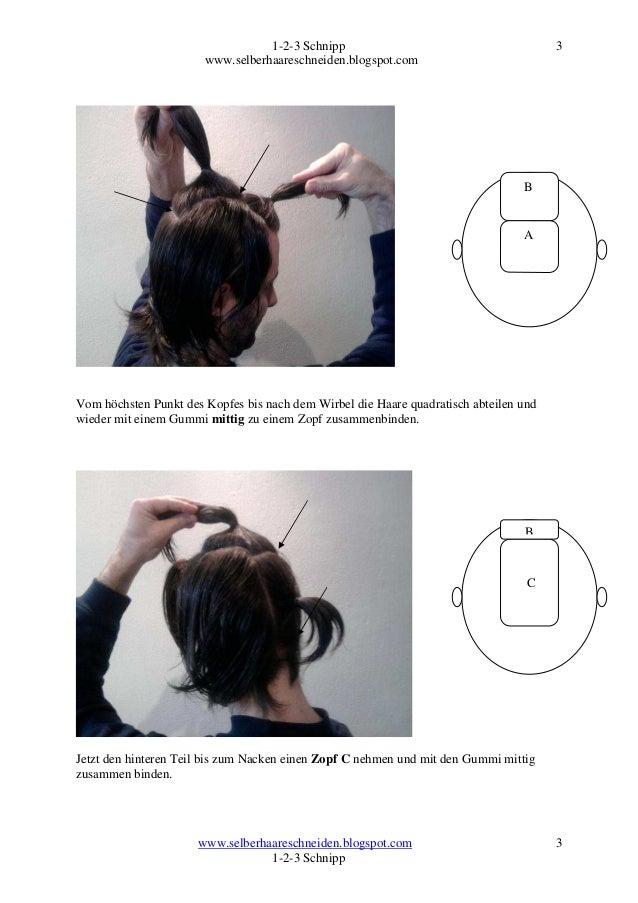 Kurze haare selber schneiden anleitung
