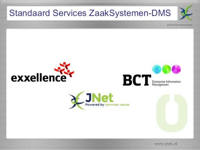 Standaard Services ZaakSystemen-DMS