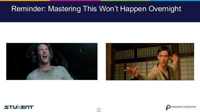 Reminder: Mastering This Won't Happen Overnight 20